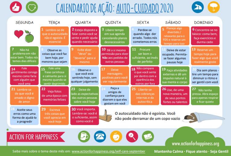 30 Exercícios para o autocuidado